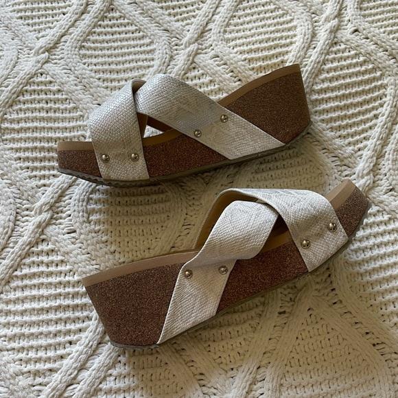 Volatile Riverside Silver Snakeskin Sandal